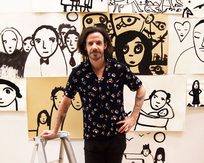 Noah Taylor in his studio 2015