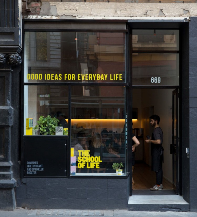School Of Life shopfront