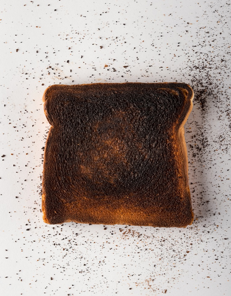Burnt Toast on White