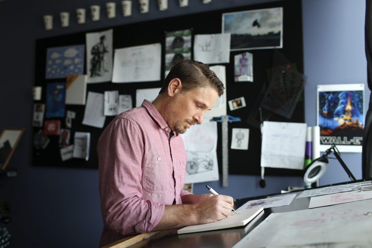 Character Designer Jason Deamer. Photo by Deborah Coleman / Pixar