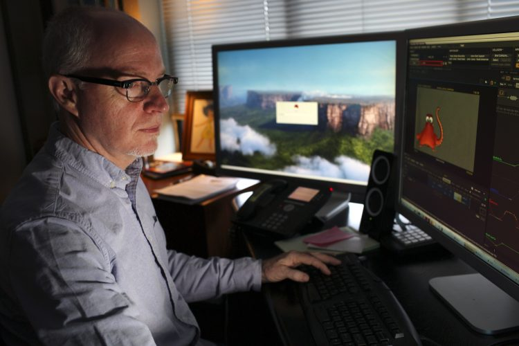 Supervising Animator, Michael Stocker. Photo by Deborah Coleman / Pixar
