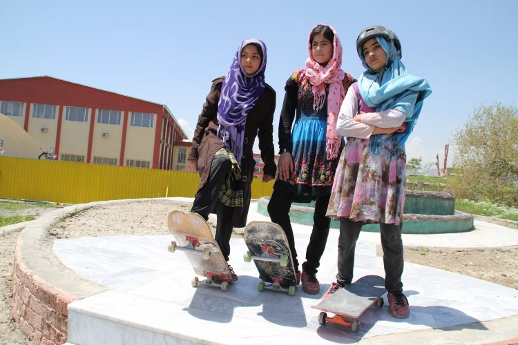 1. Skateistan_Press Image_ Girls Youth Leaders Crew _©Hamdullah Hamdard-Kabul