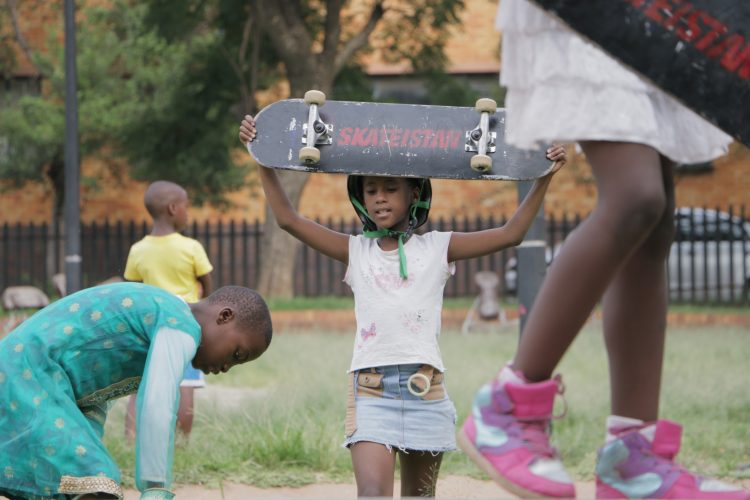 24. Skateistan_Press Image_ Outreach Girls session 2_ Troyeville Johannesburg_©Nidaa Husain for Skateistan