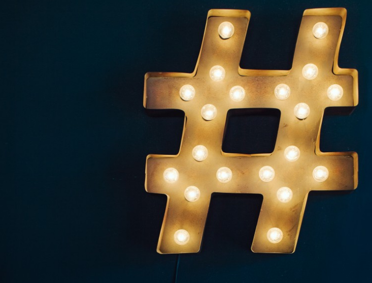 Decorative hashtag