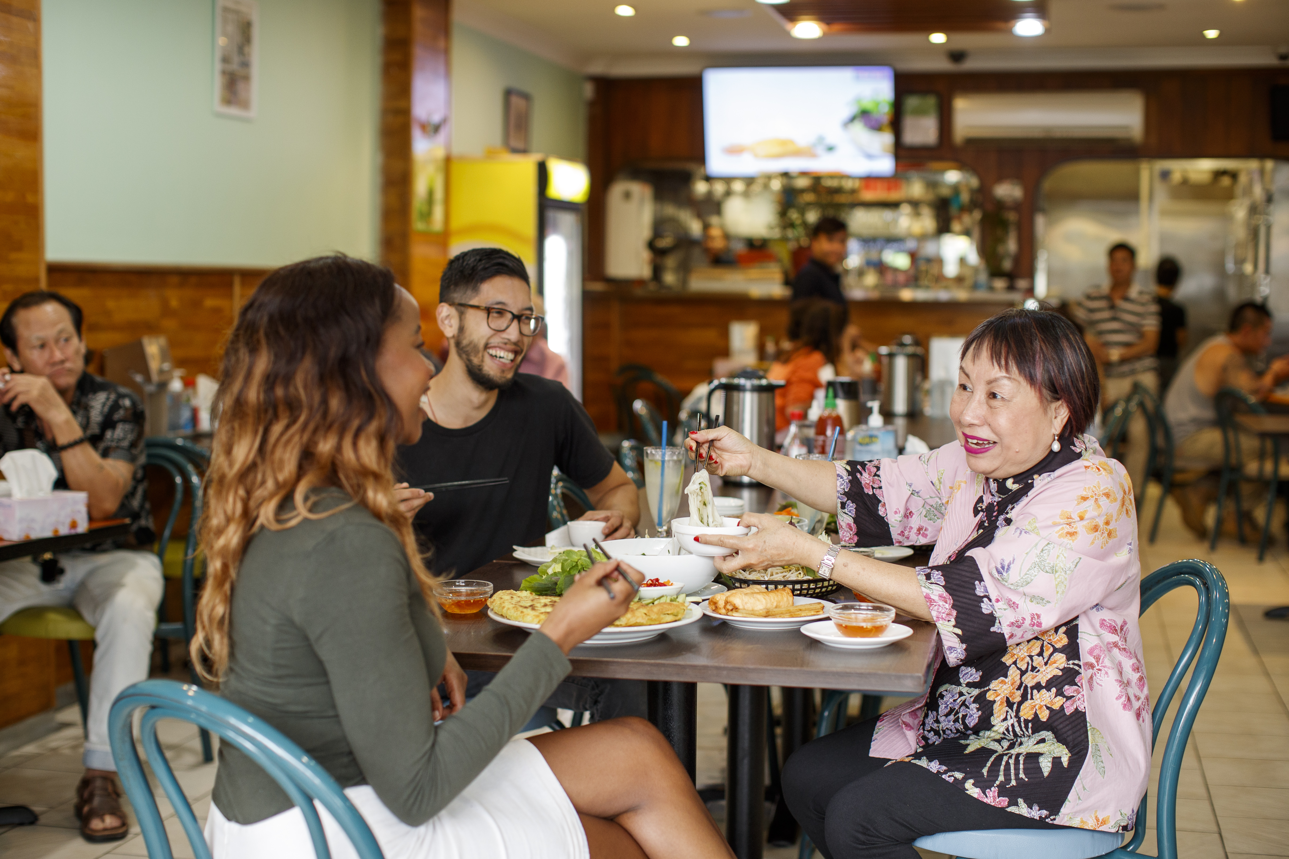 Foodie and former owner of Thanh Binh Restaurant, Angie Hong, has developed a special culinary walking tour of Cabramatta, Sydney, Australia. 23/3/2017 Photo - James Horan