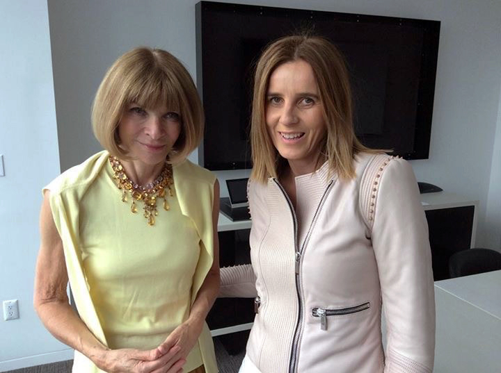 Vogue editor-in-chief Anna Wintour and Lisa Messenger