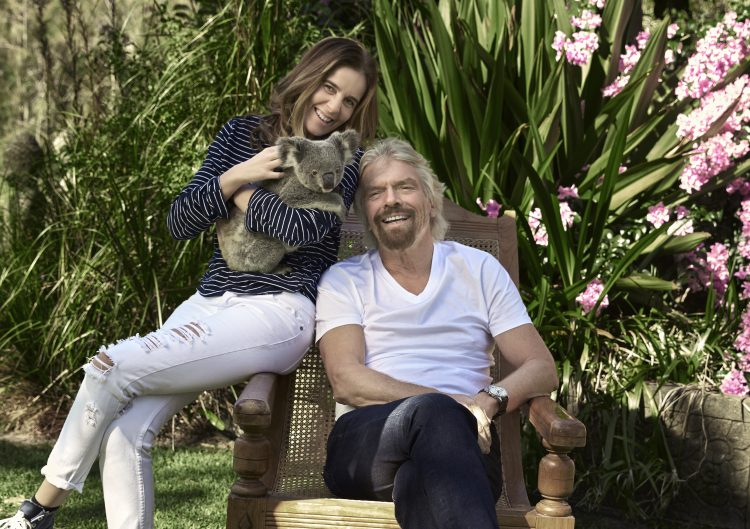 Lisa Messenger and Richard Branson