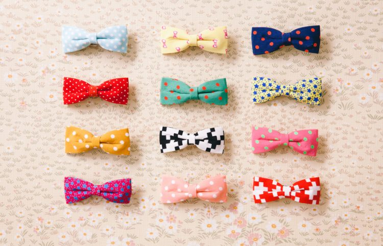 A selection of colourful bowties