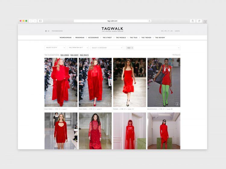Screenshot of the TAGWALK homepage