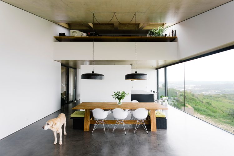 The interior of a modern home