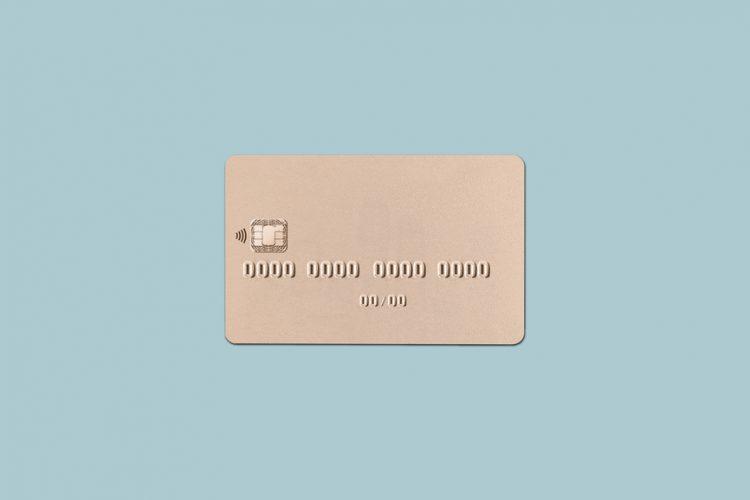A blank credit card