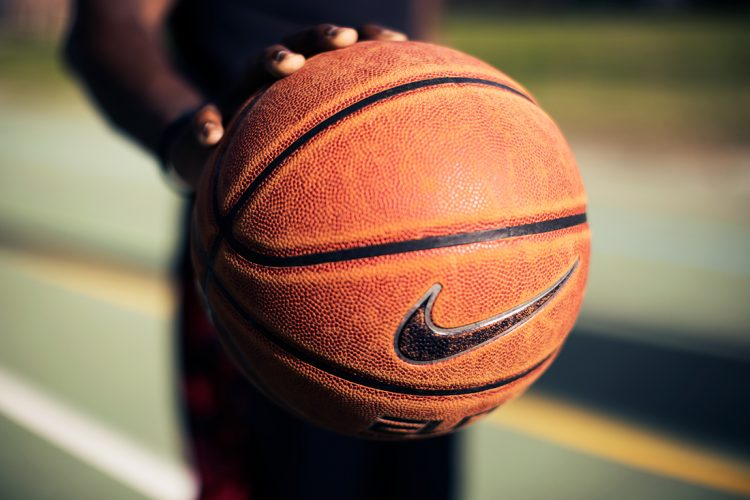 Basketball emblazoned with Nike logo